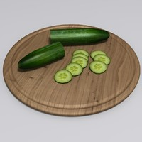3ds realistic cucumber