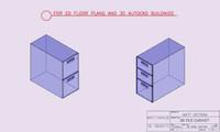 3d file cabinet autocad