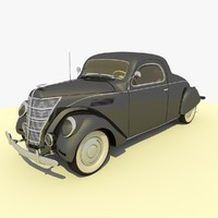 1937 Ford Lincoln Car Charcol