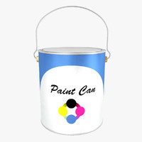 paint bucket 3d 3ds