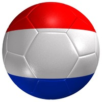 soccer ball netherlands flag 3d model