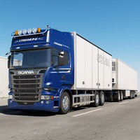 3d scania streamline truck road