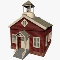 3d school house model