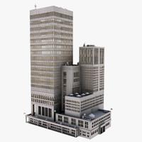 building complex skyscraper obj