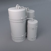 liquid tanks 3d model