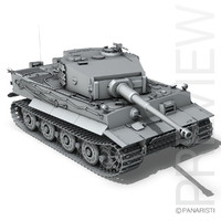 3d model sd tiger - late