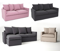 3d ikea harnosand sofa model