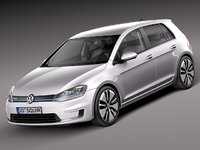 3d 2015 volkswagen golf