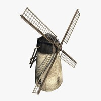 3d windmill backdrop model