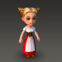 max cartoonish female character