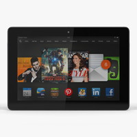 3d amazon kindle hdx 8 model