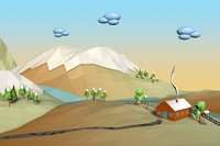 3d model of landscape cartoon