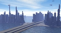 free obj model city scifi fantasy