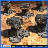 free scifi base 3d model