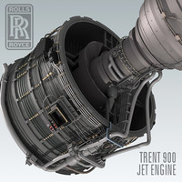3ds max trent 900 jet engine