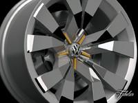volkswagen crossblue rim 3d max