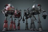 robot human 3d max