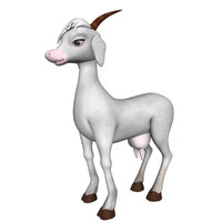 3d model of goat animation