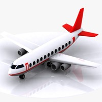 3ds max aircraft toon cartoon