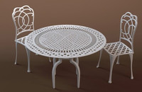 bistro table chairs 3d 3ds