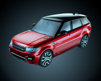 3d 2014 land rover range model