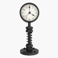 3d model vintage clock