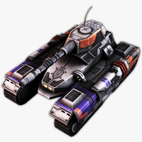 3d sci-fi tank model