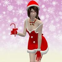 posed natsumi christmas 3d max