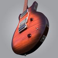 guitar prs 3d model