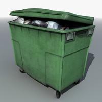 3d street bin rubbish