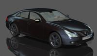 3d model mercedes benz rigged car