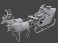 3d santa sleigh model