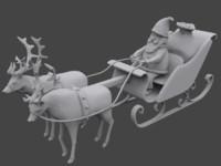 maya santa sleigh