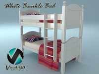maya white bunk bed