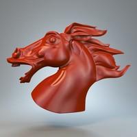 3d horse statue torso