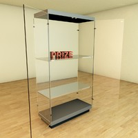 3d model glass showcase cabinet architecture