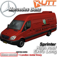 3d model mercedes benz sprinter van