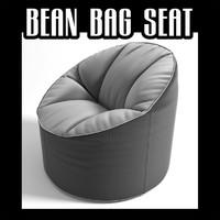 3d model bean bag seat
