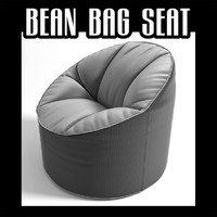 bean bag seat 3d fbx