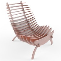 3d fishbone chair design model