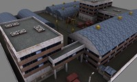 3d industrial factory