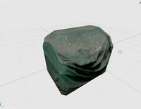 cargo covered 3d model