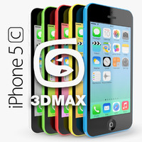 apple iphone 5c 3d obj