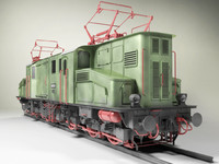 prussian electric locomotive 3d model