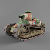 3d model renault ft tank armor