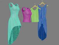 3d clothes dress t-shirt