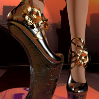 max heelless woman shoe