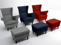 obj wing chair