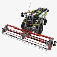 3d model lego technic combine harvester