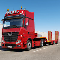Mercedes Actros (flatbed Trailer)